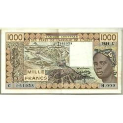 (307Cd) Estados África Oeste (Burkina Faso). 1000 Francs. 1984 (MBC)