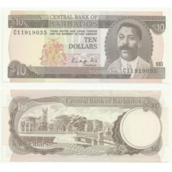 (38) Barbados. 1988. 10 Dollars (SC)