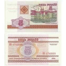 (22) Bielorrusia. 2000. 5 Rublei (SC)