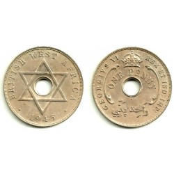 (19) África del Oeste Británica. 1 Penny. 1945 (EBC)