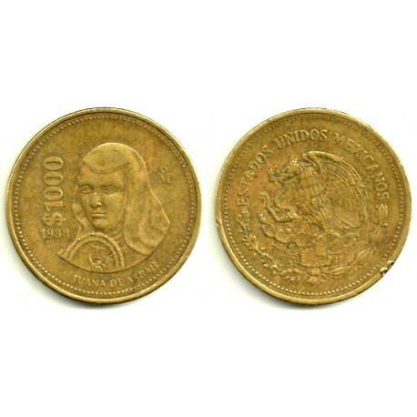(563) Estados Unidos Mexicanos. 1000 Pesos. 1988 (MBC-)