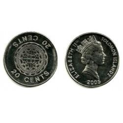 (28) Islas Salomón. 20 Cents. 2005 (SC)