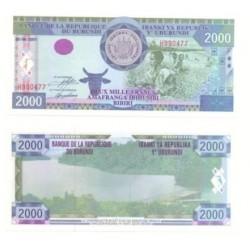 (41) Burundi. 2000 Francs (SC)