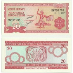 Burundi. 2007. 20 Francs (SC)