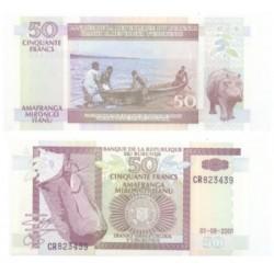 (36c) Burundi. 2001. 50 Francs (SC)