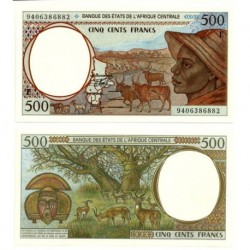 (201Eb) Estados Africa Central. 1994. 500 Francs (SC)