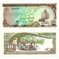 (11) República de Maldivas. 1983. 10 Rufiyaa (SC)