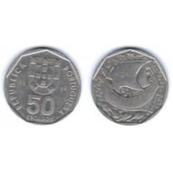 (636) Portugal. 1989. 50 Escudos (MBC)