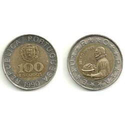 (645.1) Portugal. 1990. 100 Escudos (MBC)