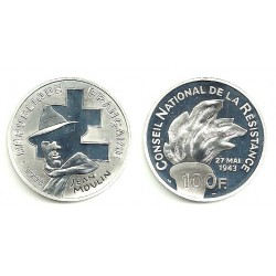 (1023) Francia. 1993. 100 Francs (Proof) (Plata)