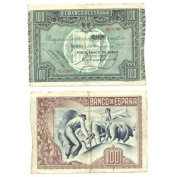 [1937] Billete de 100 Pesetas (MBC).
