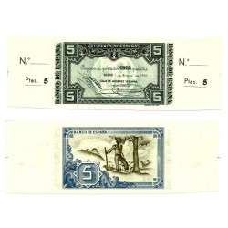 [1937] Billete de 5 Pesetas (SC).