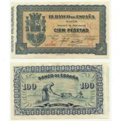 [1937] Billete de 100 Pesetas (SC). Sin Serie.