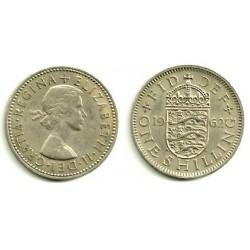 (904) Gran Bretaña. 1962. 1 Shilling (MBC)