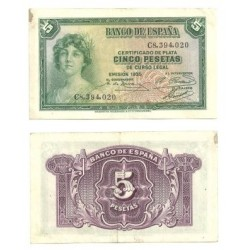 [1935] Billete de 5 Pesetas (MBC).