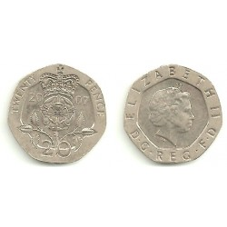 (990) Gran Bretaña. 2007. 20 Pence (MBC)