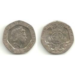 (990) Gran Bretaña. 2003. 20 Pence (MBC)
