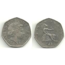 (991) Gran Bretaña. 2001. 50 Pence (BC)