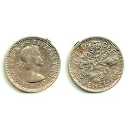 (903) Gran Bretaña. 1961. 6 Pence (MBC)