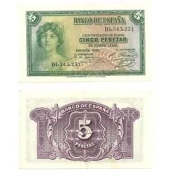 [1935] Billete de 5 Pesetas (EBC).