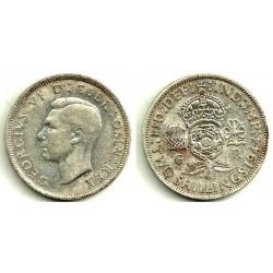 (855) Gran Bretaña. 1944. 2 Shillings (MBC) (Plata)