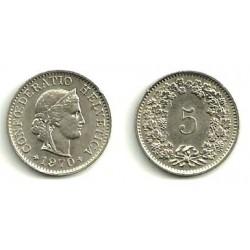 (26) Suiza. 1970. 5 Rappen (EBC)