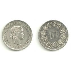 Suiza. 1990. 10 Rappen (EBC)