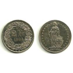 (21a.3) Suiza. 1994. 2 Francs (MBC)