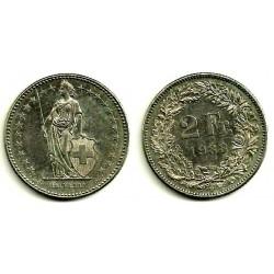 (21a.1) Suiza. 1988. 2 Francs (BC)