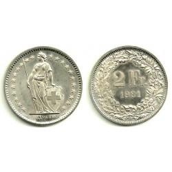 (21a.1) Suiza. 1981. 2 Francs (SC)