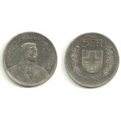 (40a.2) Suiza. 1983. 5 Francs (MBC)