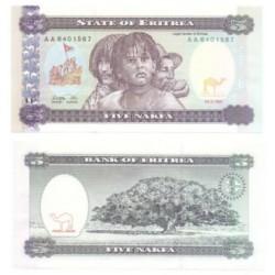 (2) Eritrea. 1997. 5 Nafka (SC)