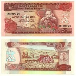 (43b) Etiopía. 1969. 10 Birr (SC)