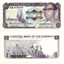 (4g) Gambia. 1971-87. 1 Dalasi (SC)