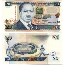 (32) Kenia. 1995. 20 Shillings (SC)
