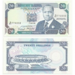 (25.d) Kenia. 1991. 10 Shilingi (EBC)