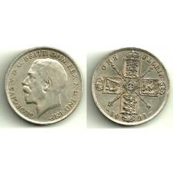 (817a) Gran Bretaña. 1921. 1 Florin (BC+) (Plata)