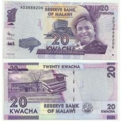 Malaui. 2012. 20 Kwacha (SC)