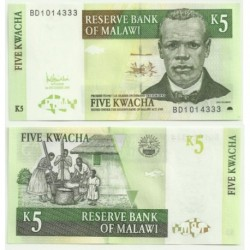 (2005) Malaui. 2005. 5 Kwacha (SC)