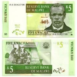 (36) Malaui. 1997. 5 Kwacha (SC)