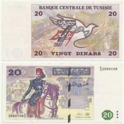 (88) República Tunecina. 1992. 20 Dinars (SC)