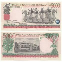 (28) Ruanda. 1998. 5000 Francs (SC)