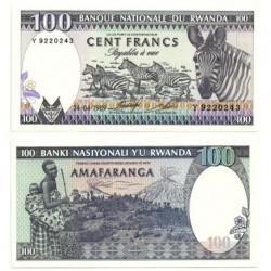 (19) Ruanda. 1989. 100 Francs (SC)
