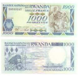 (21) Ruanda. 1988. 1000 Francs (SC)