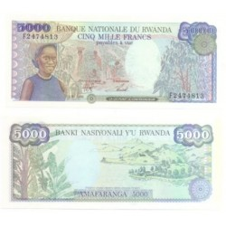(22) Ruanda. 1988. 5000 Francs (SC)