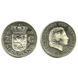 (191) Países Bajos. 1980. 2 ½ Gulden (SC)