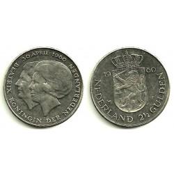 Países Bajos. 1980. 2 ½ Gulden (MBC)