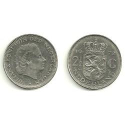 (191) Países Bajos. 1972. 2 ½ Gulden (SC)