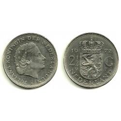 (191) Países Bajos. 1972. 2 ½ Gulden (EBC)