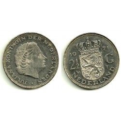 (191) Países Bajos. 1971. 2 ½ Gulden (MBC)